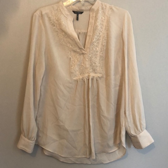 Daisy Fuentes Tops - Lace detail tunic
